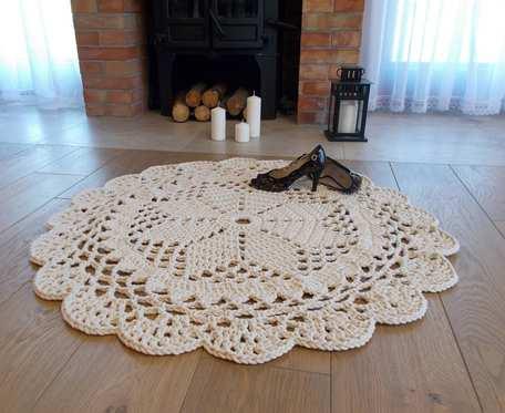 Dywan jasnokremowy 100 procent bawełna