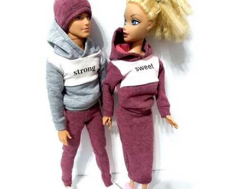 ubranka dla lalek typu barbie i ken