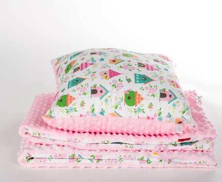 Zestaw dla Maluszka kocyk 75x100 cm + poduszka - bawełna PREMIUM