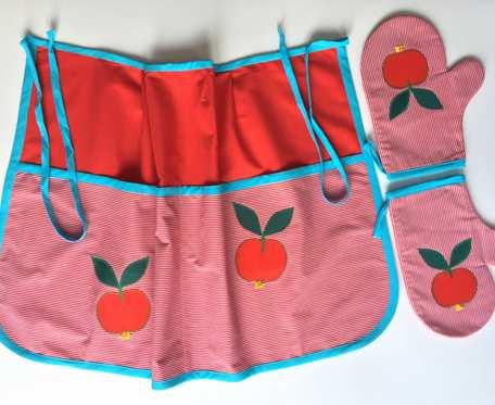 Komplet kuchenny - fartuch i rękawiczki