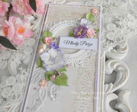 Ślubna kartka DL w pudełku 68