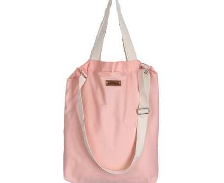 Wegańska różowa torba shopperka Premium