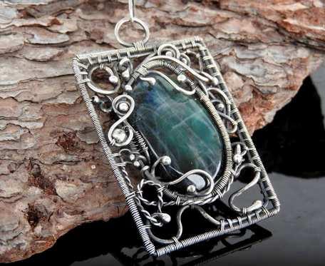 Ancient Fantazyjny wisior srebrny ze spektrolitem