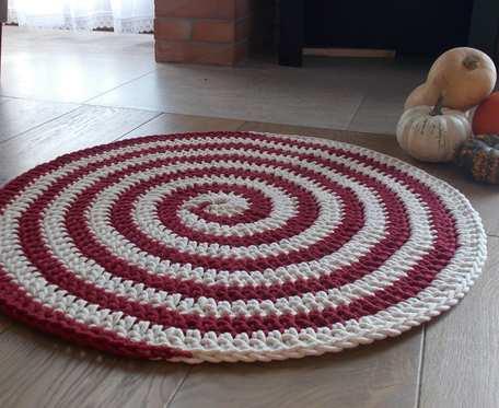 Dywan Zakręcony, bawełna 100 procent