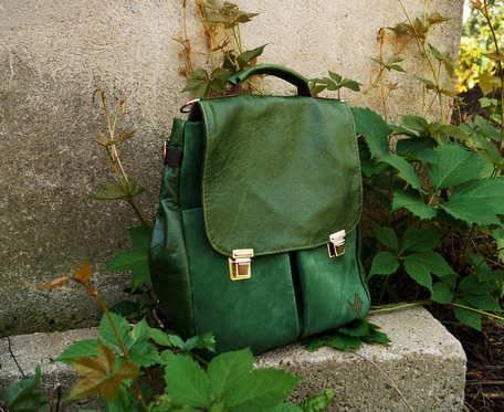 LILITH CHIMERA plecak/torba  zielona skóra
