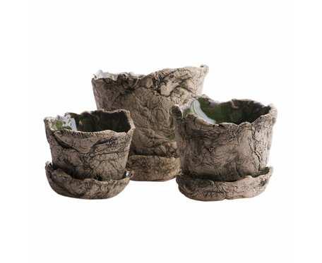Zestaw doniczek ceramicznych