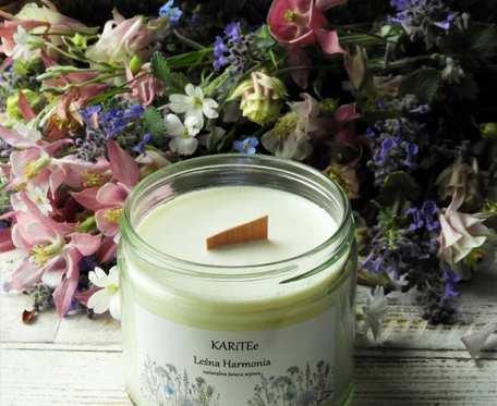 Naturalna, zapachowa świeca sojowa LEŚNA HARMONIA bardzo duża