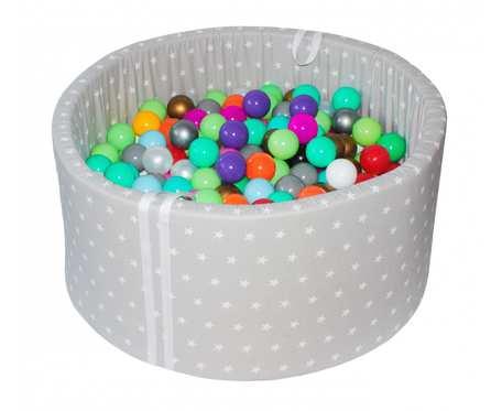 Suchy basen BabyBall z piłeczkami (250 szt) - grube dno 4 cm - Young Star