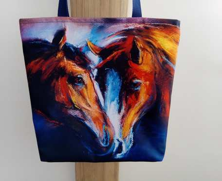 Eko torba zakupowa, shopperka, konie