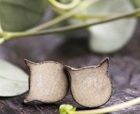 Ceramiczne kolczyki