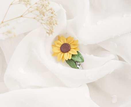 Broszka słonecznik