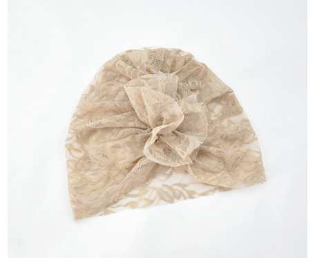 Turban, czapka z koronki