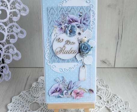 Kartka ślubna DL w pudełeczku