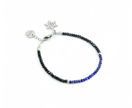 Bransoletka Spinel i Lapis lazuli 3 mm + pudełko
