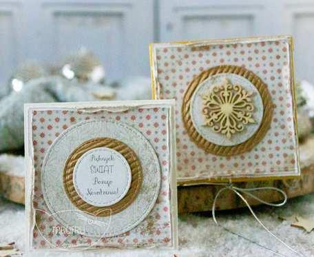 Jestem z najpiękniejszych PODARKÓW ŚWIĄTECZNYCH stworzony przez Mrufru. Mini kartka w filigranowym pudełeczku. Boże Narodzenie. (m01)
