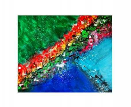 Obraz akryl na płótnie abstrakcja (Ao04)