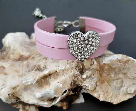 Bransoletka Różowe Serce