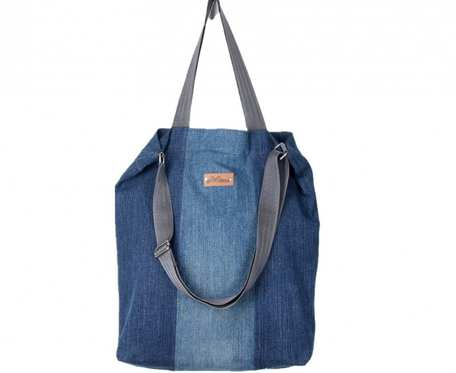 Wegańska dżinsowa torba shopperka Premium