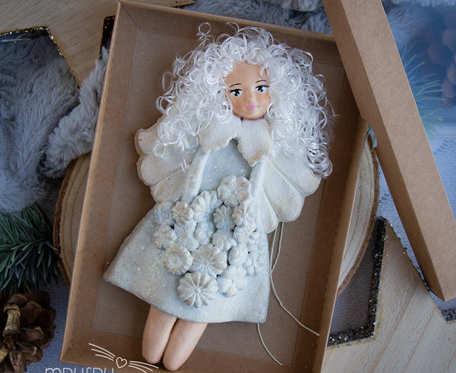 Anioł Stróż, świąteczny anioł przepięknie opakowany w eko pudełeczko, prezent na święta, prezent na Chrzest