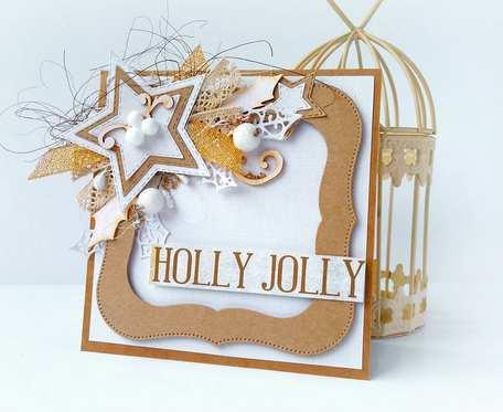 Kartka świąteczna Holly Jolly