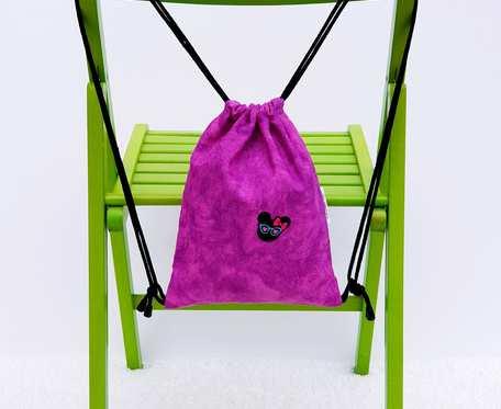 Plecak – Worek różowy z Myszką Miki w różowe oczy