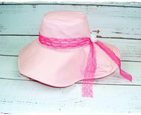Różowy kapelusz dla dziewczynki R. 51