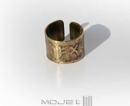 Runiczny amulet wszelkiej pomyślności - obrączka