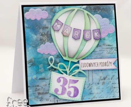 Kartka urodzinowa na 35 urodziny balon dla Marka KU1959 NA ZAMÓWIENIE