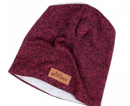 Kolorowa czapka beanie uniwersalna melanżowy różowy