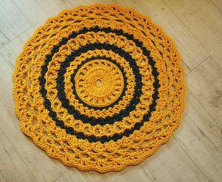 Mandala Dywanik Bawełniany Szydełkowy