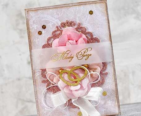 Ślubne obrączki - w różu