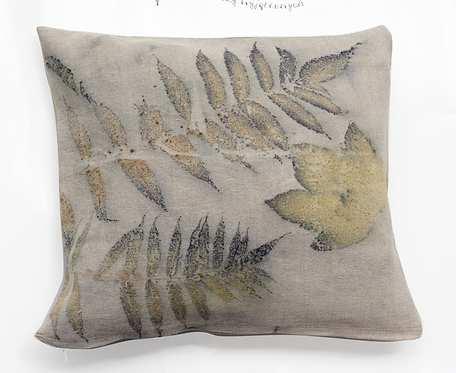 Eko-liściasta IV - poszewka na poduszkę