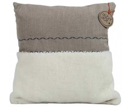Poduszka naturalna z haftem, skandynawska