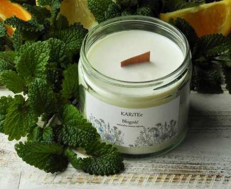 Naturalna, zapachowa świeca sojowa BŁOGOŚĆ bardzo duża