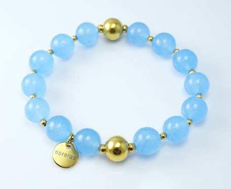 Bransoletka Kwarc niebieski 10 mm