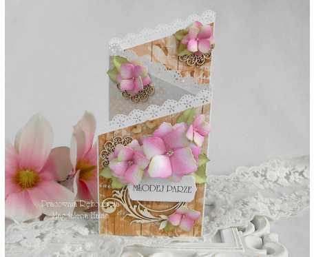 Ślubna kartka kaskadowa w pudełku 06