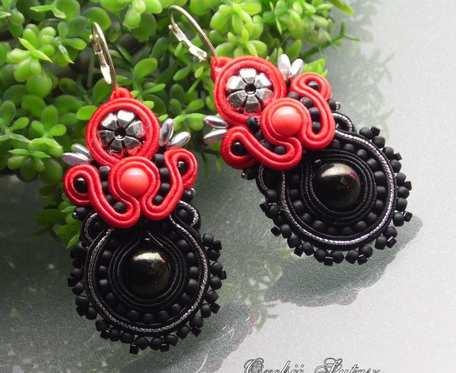 KOLCZYKI RED & BLACK
