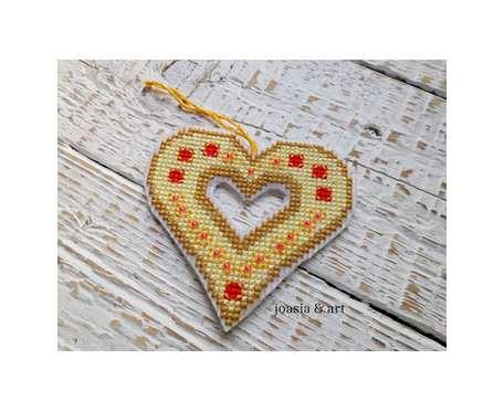haftowane serce - na zamówienie