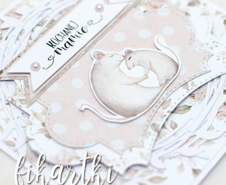 Kartka na Dzień Matki - mysia mama KDM2005