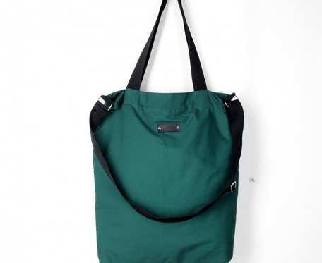 Wegańska torba shopperka Premium butelkowa zieleń