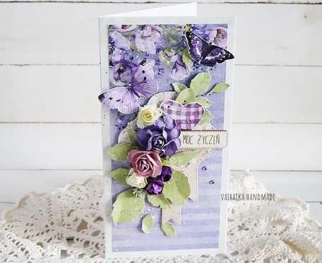 Kartka urodzinowa/imieninowa w pudełku, 543