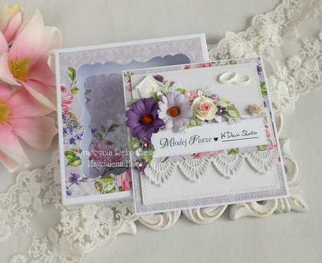 Ślubna kartka w pudełku 131