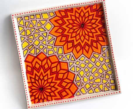 Patera dekoracyjna z rozetami