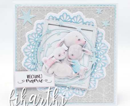 Kartka na Dzień Matki króliczki KDM2001