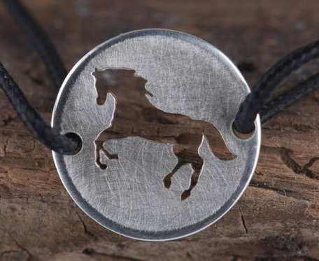 Srebrny charms z koniem