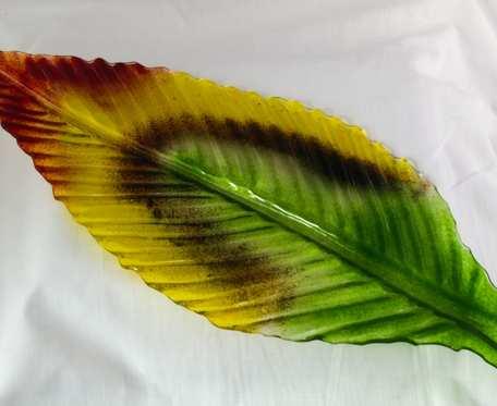 Szklany jesienny  liść