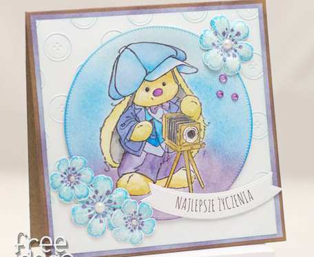 Kartka dla fotografa stary aparat KU1817