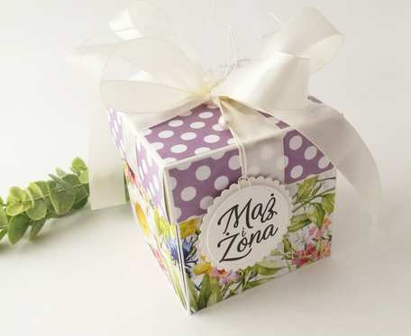 Pudełko ślubne Łąka kwietna