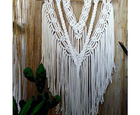 Makrama na ścianę, dekoracja boho MS086