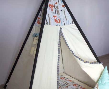 Namiot Tipi leśne zwierzaki
